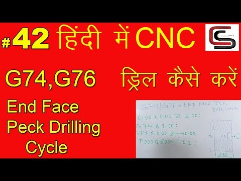 G74 or G76 END FACE PECK DRILLING CYCLE - YouTube