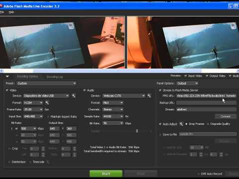 Transmitir en directo con Flash Media Live Encoder (FMLE)