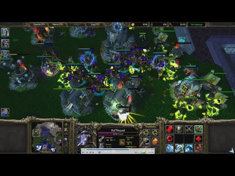 [Single Player Campaign Map Replacement] Warcraft III RoC Undead 8 Controllable Archimonde w/ Voice.