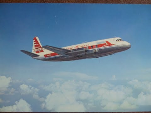 Capital Airlines Vickers Viscount Collins Radio Co. demonstration mid 1950's