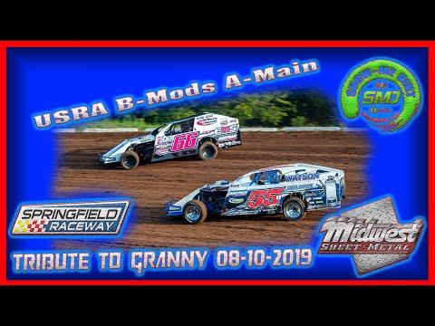 S03-E397 Usra B-Modifieds A-Main - Tribute to Granny Springfield Raceway 08-10-2019 #DirtTrackRacing