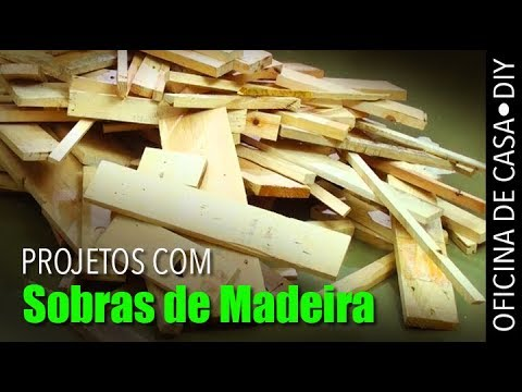 Sobras De Madeira De Paletes - 2 Projetos #DIY #oficinadecasa