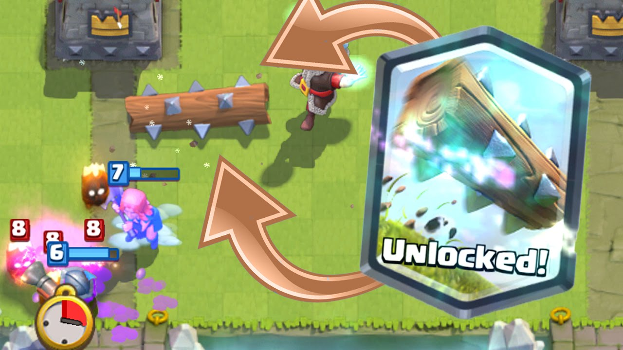 Clash royale unlocked the log gameplay and deck