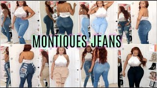 MONOTIQUES Jean Try On Haul With Sizing- Curvy Girl + Plus Size approved