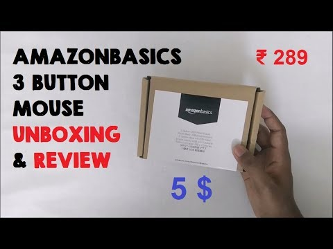 d27fffaafdb AmazonBasics 3 Button USB Wired Mouse Unboxing and Review | Unbox Express |  Giveaway
