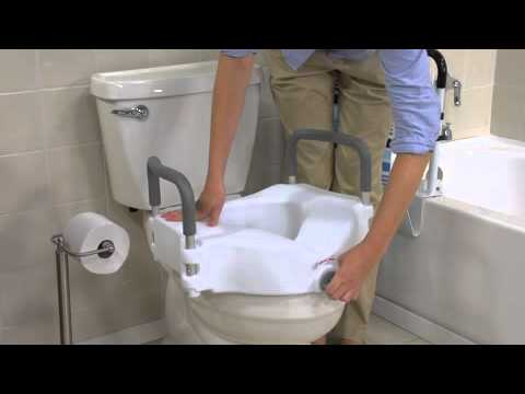 Drive Medical Elevated Raised Toilet Seat With Removable