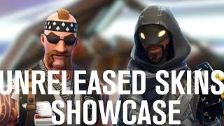 Fortnite Unreleased BR Skins - Cloaked Star & Backbone Showcase