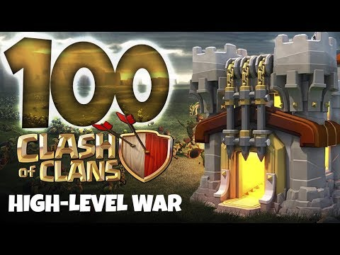 ONE HUNDRED TH10s & TH11s IN A WAR - Clash of Clans High Level Gameplay!