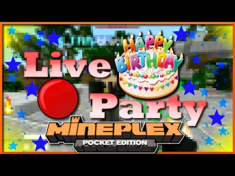 BIRTHDAY PARTY STREAM | My Son John Turns 5 | MineplexPE | MCPE