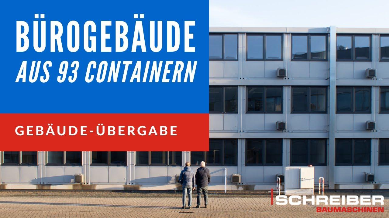 Schlüsselfertiges Bürogebäude aus 93 Systemcontainer-Einheiten