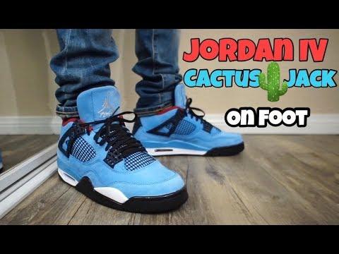Jordan 4 Cactus Jack On Feet Youtube