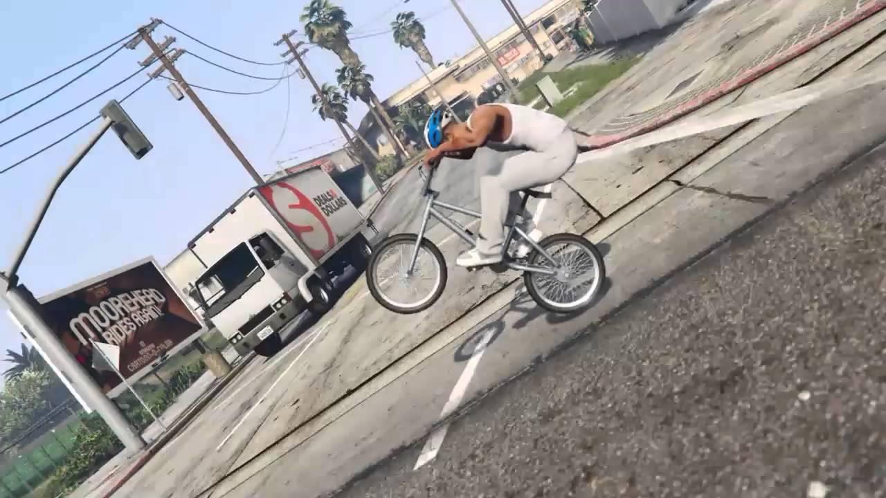 Bike Wheelie And Tricks In Gta 5 Ps4 Youtube