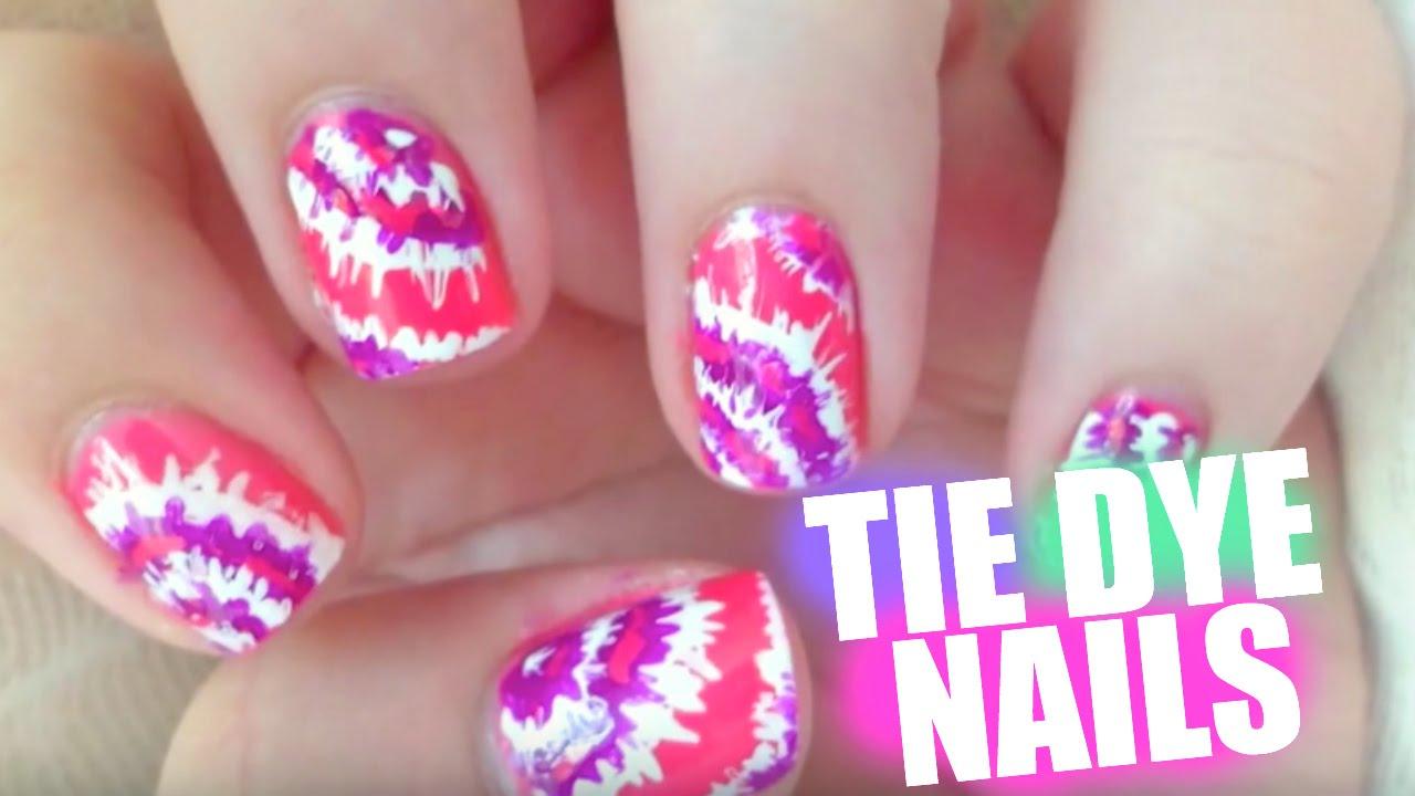- Tie Dye Nail Art - YouTube