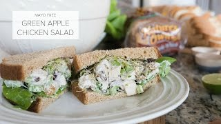Green Apple Chicken Salad (Mayo Free)
