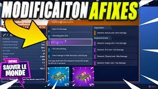 Changes of Afixes, Energy, Fire, Water and Lightning! Fortnite Saving the World