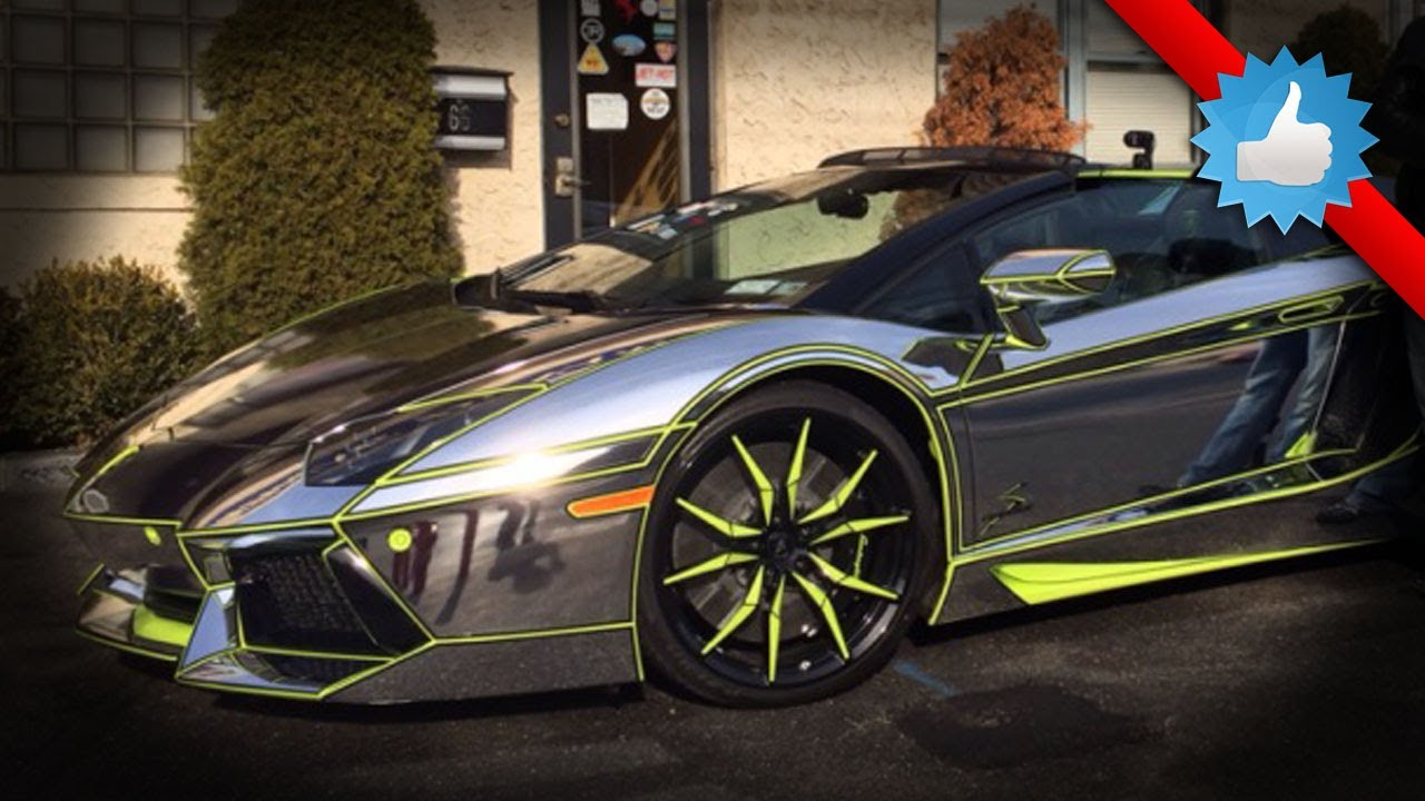 Team Salamone Lamborghini Aventador Roadster New Chrome Wrap Youtube