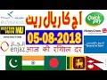 Today Saudi Riyal Currency Exchange Rates - 05-08-2018 | India | Pakistan | Bangladesh | Nepal