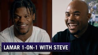 Lamar Jackson Opens uṗ in Interview with Steve Smith | Baltimore Ravens