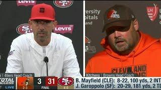 Kyle Shanahan and Freddie Kitchens PostGame Reaction: 49ers destroy Browns 31-3