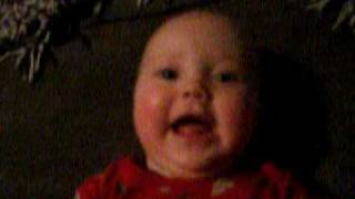 funny baby talking about her dada