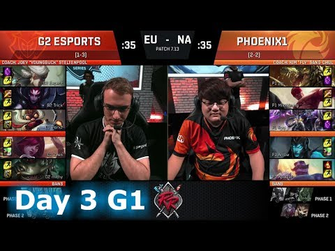 G2 eSports vs Phoenix1 | Day 3 of NA vs EU Rift Rivals 2017 LoL | G2 vs P1 #RiftRivals