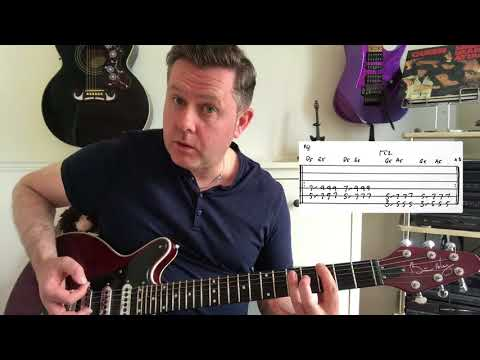 Queen - Tenement Funster - Guitar Lesson (Guitar Tab)