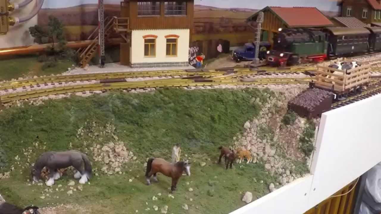 Large G Scale Model Train Layout - YouTube
