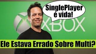 Baixar XBOX -  PHIL SPENCER PROMETE MAIS JOGOS SINGLE PLAYER! MUDOU DE IDEIA?