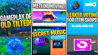 *NEW* Fortnite: Leaked Gameplay of WILD WEST TILTED POI! Item Shop Voting EARLY, METEOR MOVING SOON!