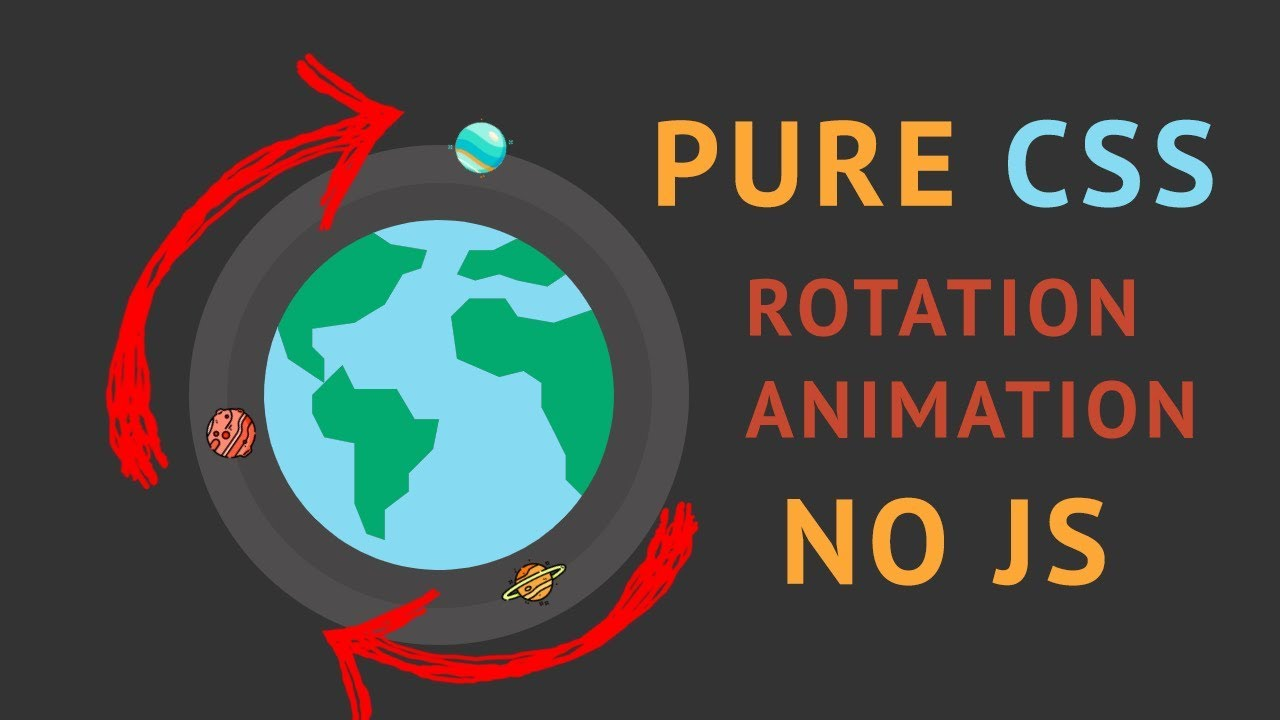 Space simulation | PURE CSS animation rotation around Earth | NO JavaScript  | Speed Coding CSS