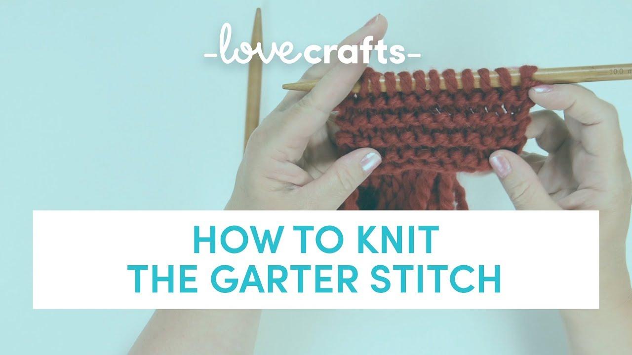 Undo Knitting Garter Stitch : How to Knit Garter Stitch - YouTube