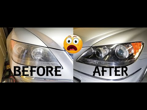 INGENIUS way to clean you headlights that works