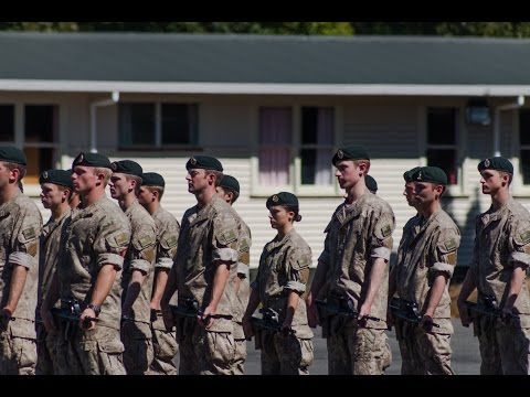 NZ Army Reserve Basic Training March Out Parade in Full