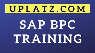 SAP BPC Training | SAP Business Planning and Consolidation Tutorial | SAP Certification | Uplatz