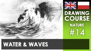 Drawing tutorial - Water & waves | Kurs rysunku - Woda i fale [S02E14 ENG/PL]