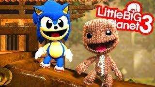 Sackboy Returns To The Islands With Sonic - LittleBigPlanet 3 | EpicLBPTime