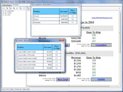 HTML Tooltips: DataLink Viewer (for Crystal Reports)