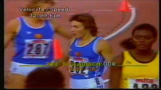 Silke Gladisch - Women's 100m - Rome World Champs 1987