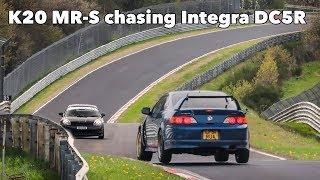 MR2 chasing Integra Type R Nurburgring Nordschleife Battle