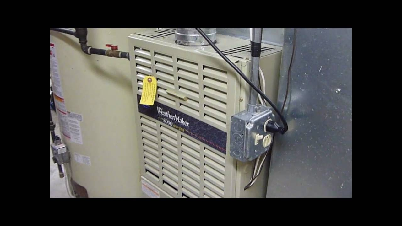 80 000 btu carrier weathermaker 8000 gas furnace youtube