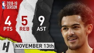 Trae Young Full Highlights Hawks vs Warriors 2018.11.13 - 4 Pts, 9 Ast, 5 Rebounds!