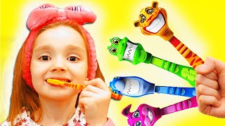 My Morning Routine SoNikA Pretend play Brush your teeth