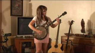 Kickin Chickens played by Jaimee Perea (Eddie Shelton Banjo cover)