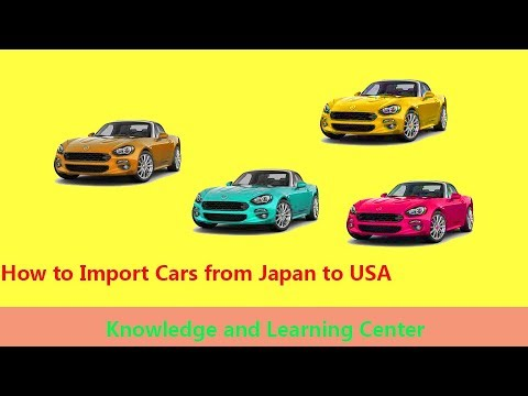 how to import cars from japan to usa united states youtube. Black Bedroom Furniture Sets. Home Design Ideas