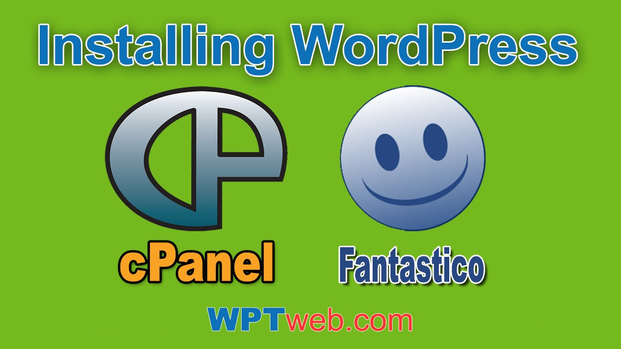Installing Wordpress On cPanel With Fantastico Deluxe - WordPress Tutorial 5
