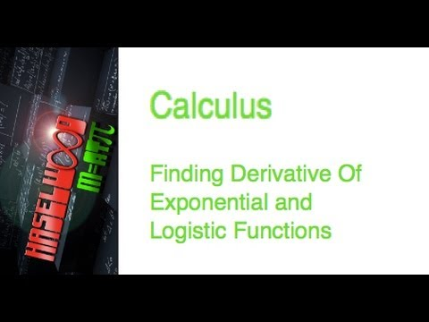 Calculus - 3.9 Notes: Derivatives of Exponential and Logarithmic Functions