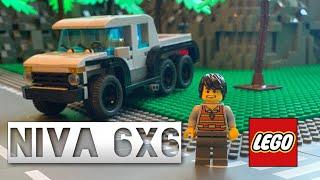 LEGO НИВА 6x6 | видео-инструкция | MOC#14