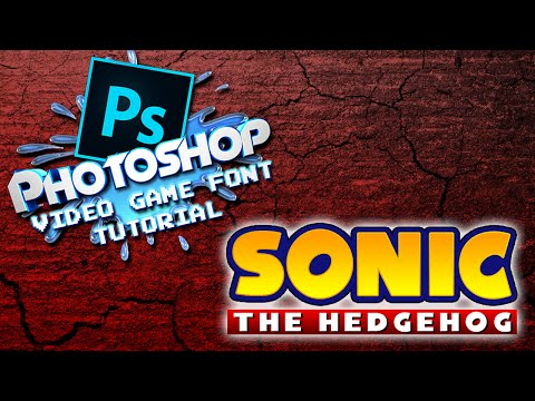 Photoshop Video Game Font Tutorial : Sonic Style