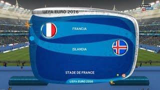 Francja - Islandia Euro 2016 FIFA 16