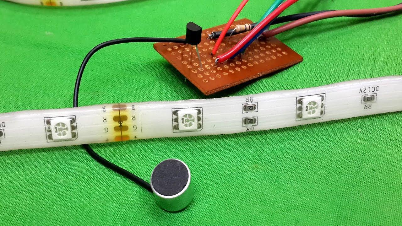 How To Make Music Reactive Rgb Led Strip Using Bc547 Transistor Wiring Basics